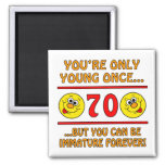 Immature 70th Birthday Gag Gifts Refrigerator Magnet