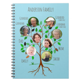 Immediate Family Photo Tree Notebooks