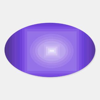 Immersed in Purple Modern Art Design CricketDiane Oval Sticker