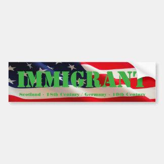 Immigrant American Bumper Sticker