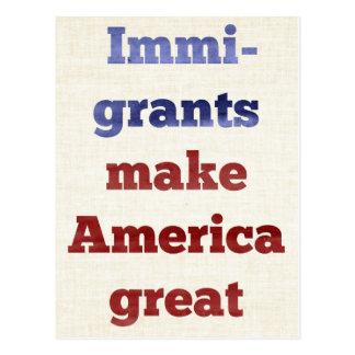 Immigrants Make America Great Postcard