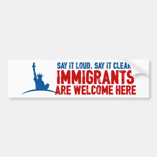 Immigrants Welcome Bumper Sticker
