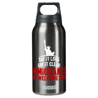 Immigrants Welcome Dark Sigg Hot & Cold Bottle