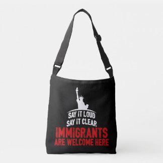 Immigrants Welcome Dark Sling Bag