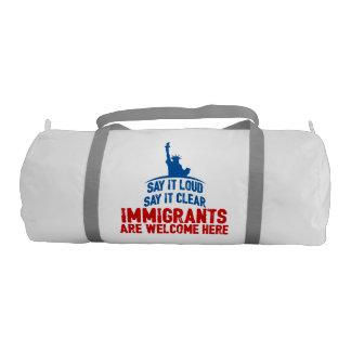 Immigrants Welcome Duffel Bag Gym Duffel Bag