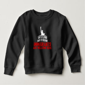 Immigrants Welcome Toddler Dark Sweatshirt