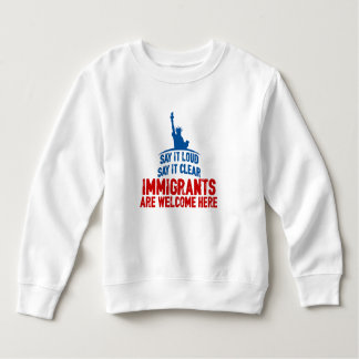 Immigrants Welcome Toddler Sweatshirt