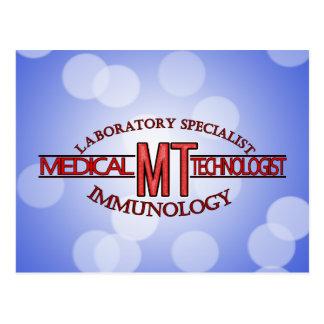 IMMUNOLOGY SPECIALIST MT MEDICAL TECHNOLOGIST POSTCARDS