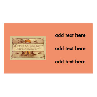Imp Jack O' Lantern Witch Moon Bat Pack Of Standard Business Cards