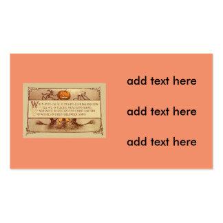 Imp Jack O' Lantern Witch Moon Bat Pack Of Standard Business Cards