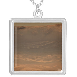 Impact crater Endurance on the surface of Mars Silver Plated Necklace
