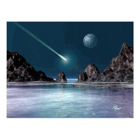 IMPACT Sci-Fi Retro Space Art Postcard