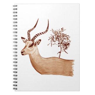Impala Antelope Animal Wildlife Drawing Sketch Notebooks