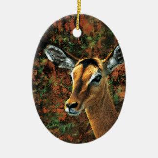 Impala Lady fantasy art  hanging decoration