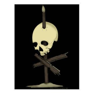 Impaled Skull Postcard