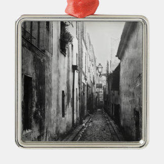 Impasse Briard, from cite Coquenard, Paris Silver-Colored Square Decoration