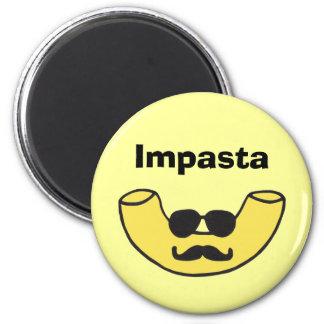 Impasta Macaroni Noodle 6 Cm Round Magnet