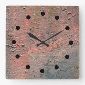 Impasto Abstract Acrylic Clock