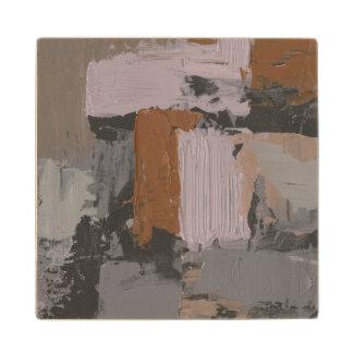 Impasto Abstract I Wood Coaster
