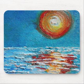 Impasto Abstract Sunrise Mousepad
