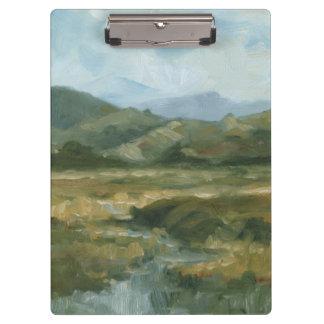 Impasto Landscape III Clipboard