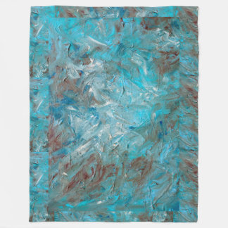 Impasto Teal Fleece Blanket
