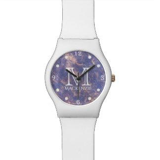 Impatient Bling | Monogram Lavender Purple Gold Watch