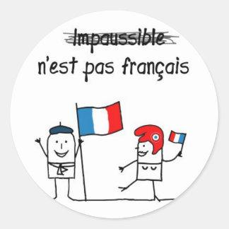 Impaussible Round Sticker