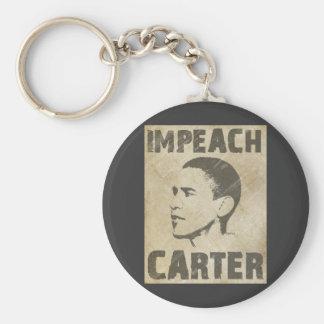 Impeach Carter Basic Round Button Key Ring