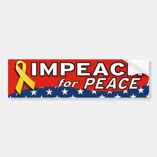 Impeach For Peace Bumper Stickers