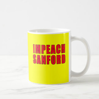 Impeach Governor Mark Sanford Basic White Mug