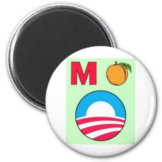 Impeach Obama barack president m peach 6 Cm Round Magnet