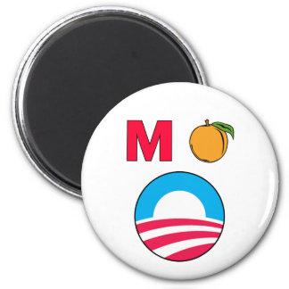 Impeach Obama barack president m peach Fridge Magnet