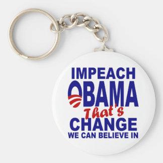 Impeach Obama Basic Round Button Key Ring