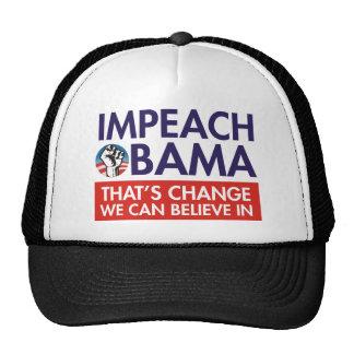 IMPEACH OBAMA CHANGE MESH HAT