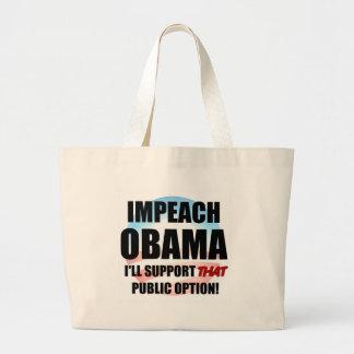 Impeach Obama Large Tote Bag