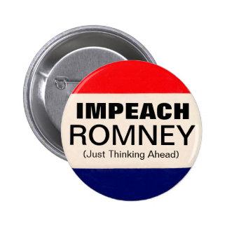 Impeach Romney 6 Cm Round Badge