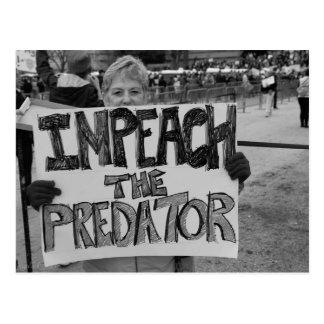 Impeach the Predator Postcard