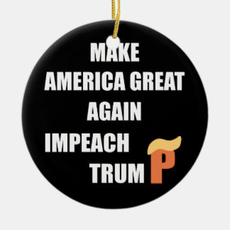 Impeach Trump Christmas Ornament