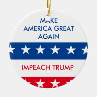 Impeach Trump Christmas Ornament