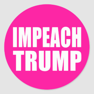 """IMPEACH TRUMP"" CLASSIC ROUND STICKER"