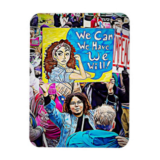 "Impeach Trump, ""We Can"" Women's March Protester Magnet"