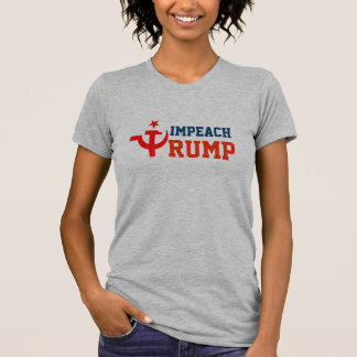 """Impeach Trump"" with Russian Hammer and Sickle T-Shirt"