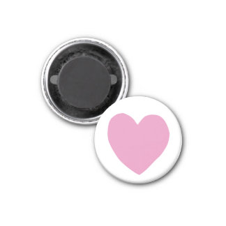 imperfect heart (pink) 3 cm round magnet