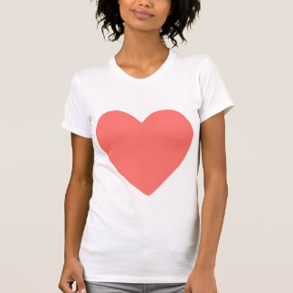 imperfect heart (salmon) t shirts
