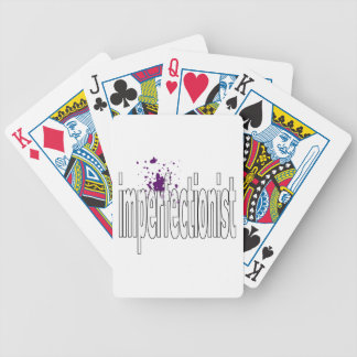 imperfectionst bicycle poker cards