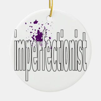 imperfectionst round ceramic decoration