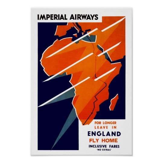 Imperial Airways Africa Poster