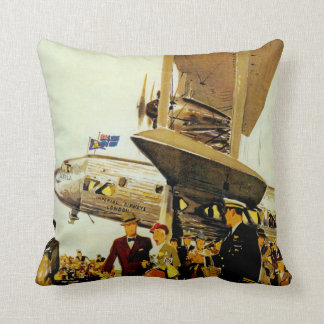 Imperial Airways Arrival Throw Pillow