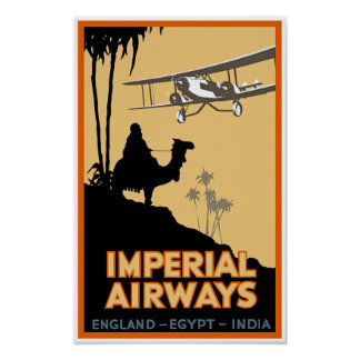 Imperial Airways ~ England - Egypt - India Poster